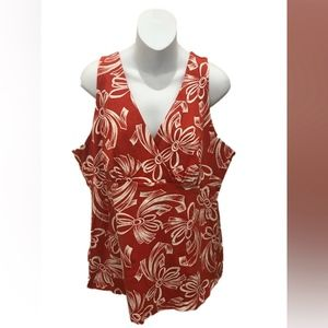 Tommy Bahama Sleeveless Surplice Floral Blouse